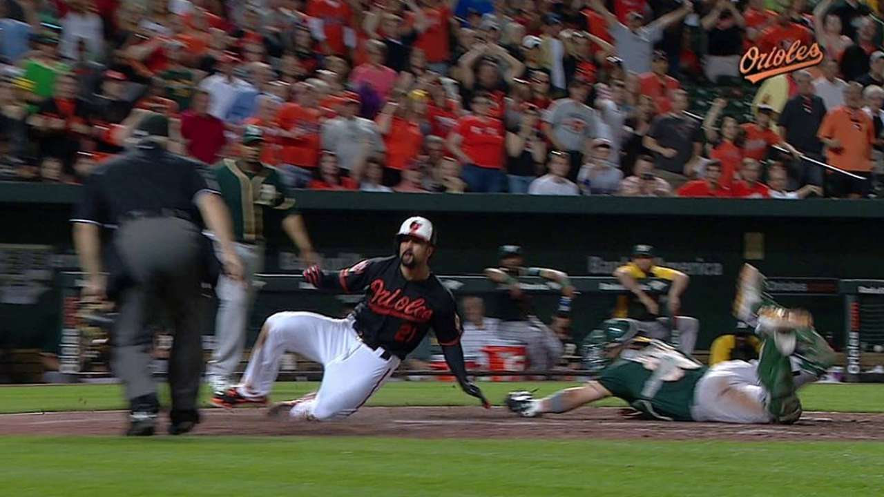 Orioles lose replay challenge in 10th inning