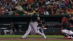 After great escape, A's win in 11 on Vogt's single