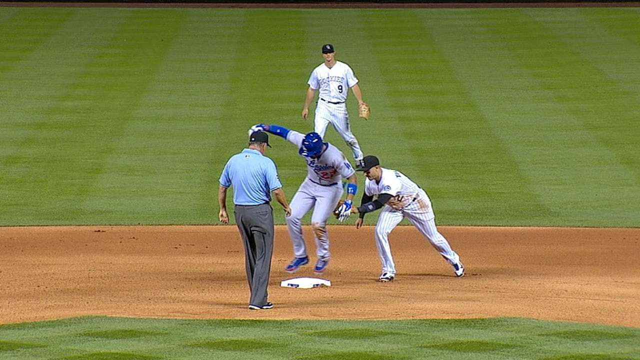 Slide costs Kemp a double after a challenge