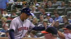 Astros belt three homers, hold on to edge Twins
