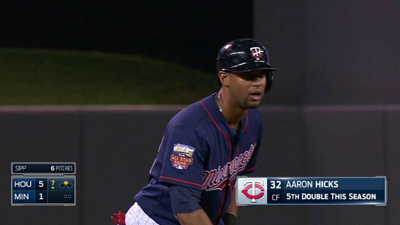 Hicks back with Twins with confidence, determination