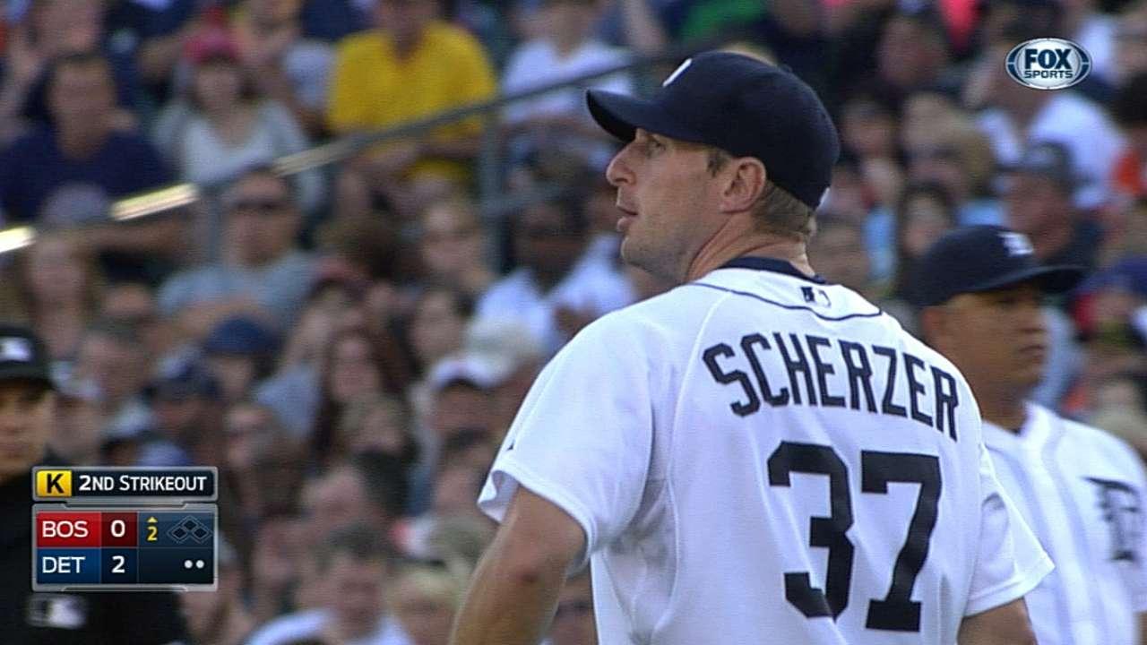 Scherzer battles, while bats boost ace over Boston