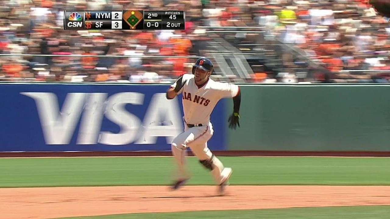 Gigantes siguen encendidos con barrida sobre Mets