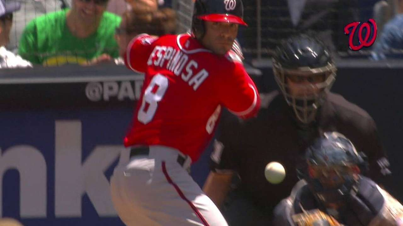 Espinosa working to fix swing from left side