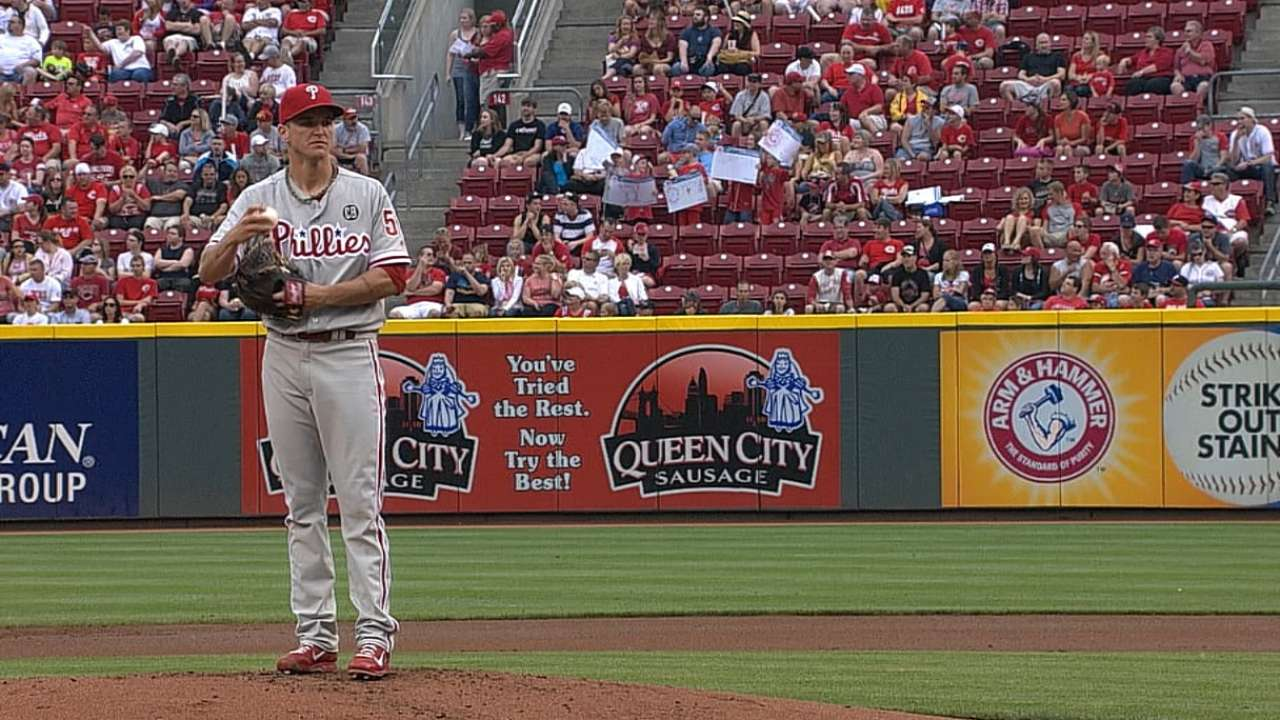 Phillies' bats unable to get going vs. Reds