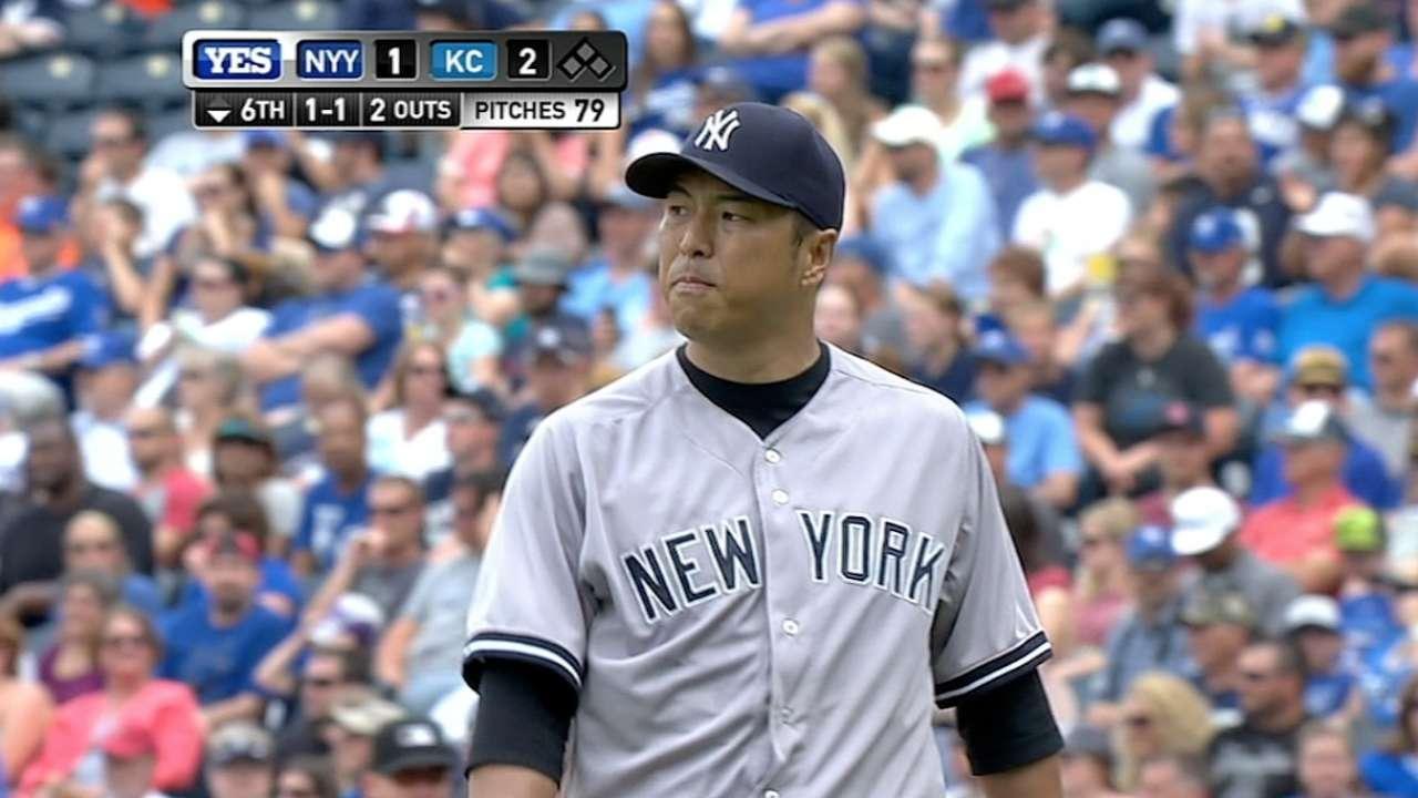 Yankees' bats can't deliver key knock vs. KC