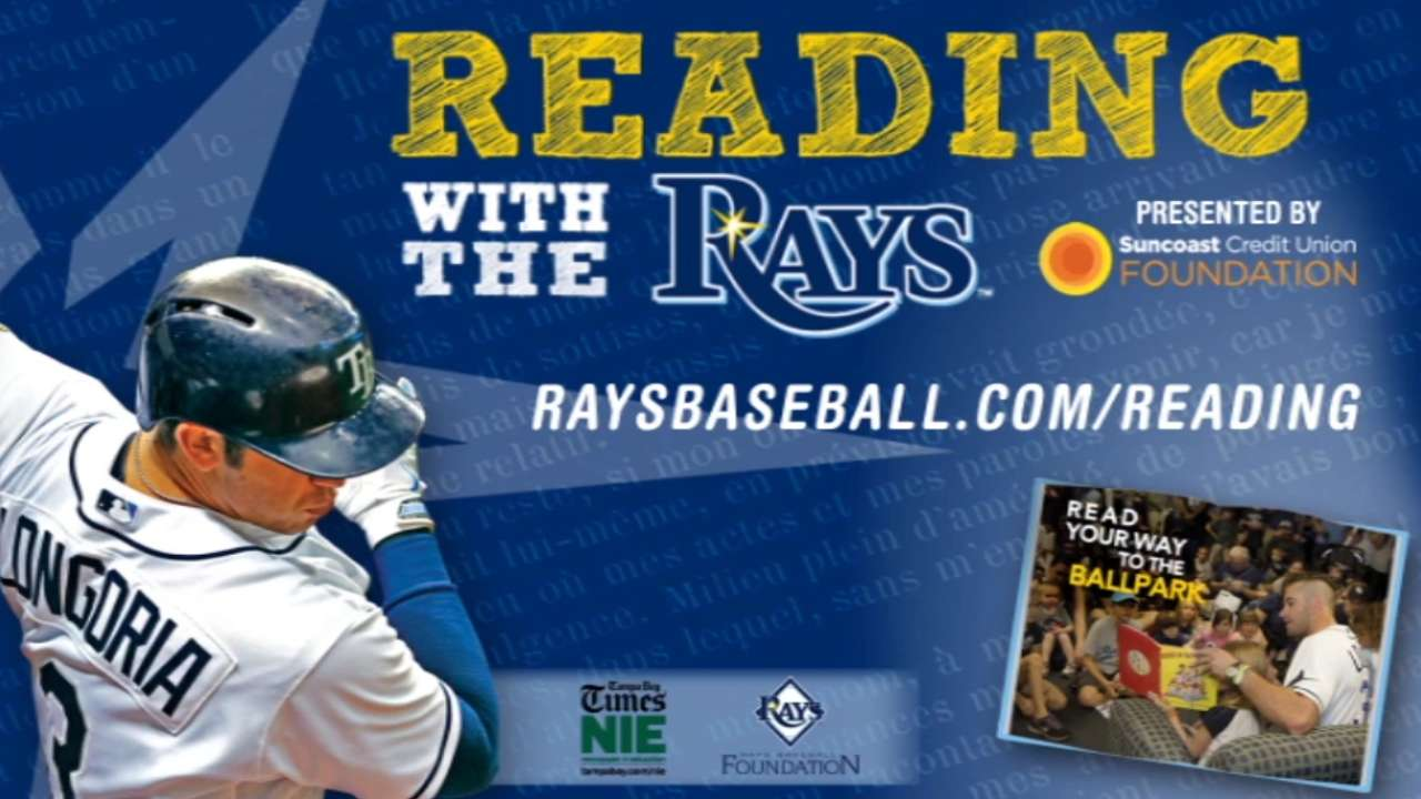 Longoria helps start Rays' summer reading program