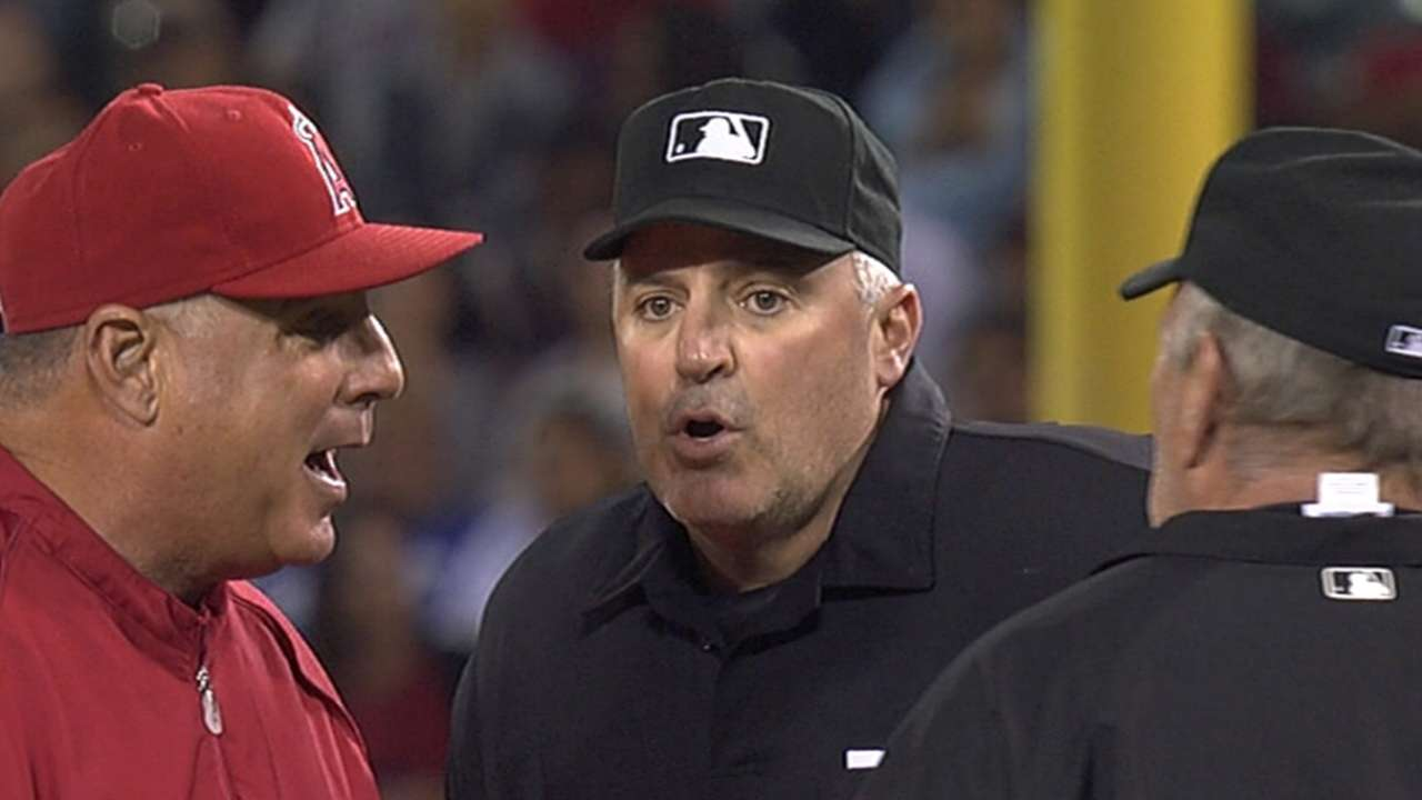 Scioscia tossed after replay takes away Trout homer