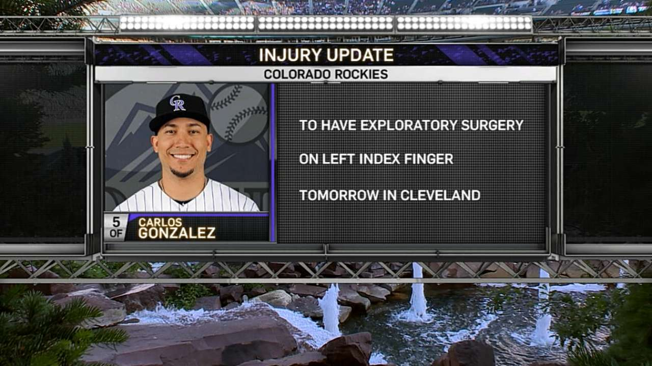 Rockies receive positive reports on injured players