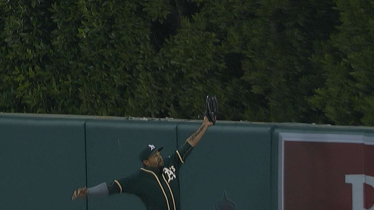 A's get sloppy in series opener with Angels