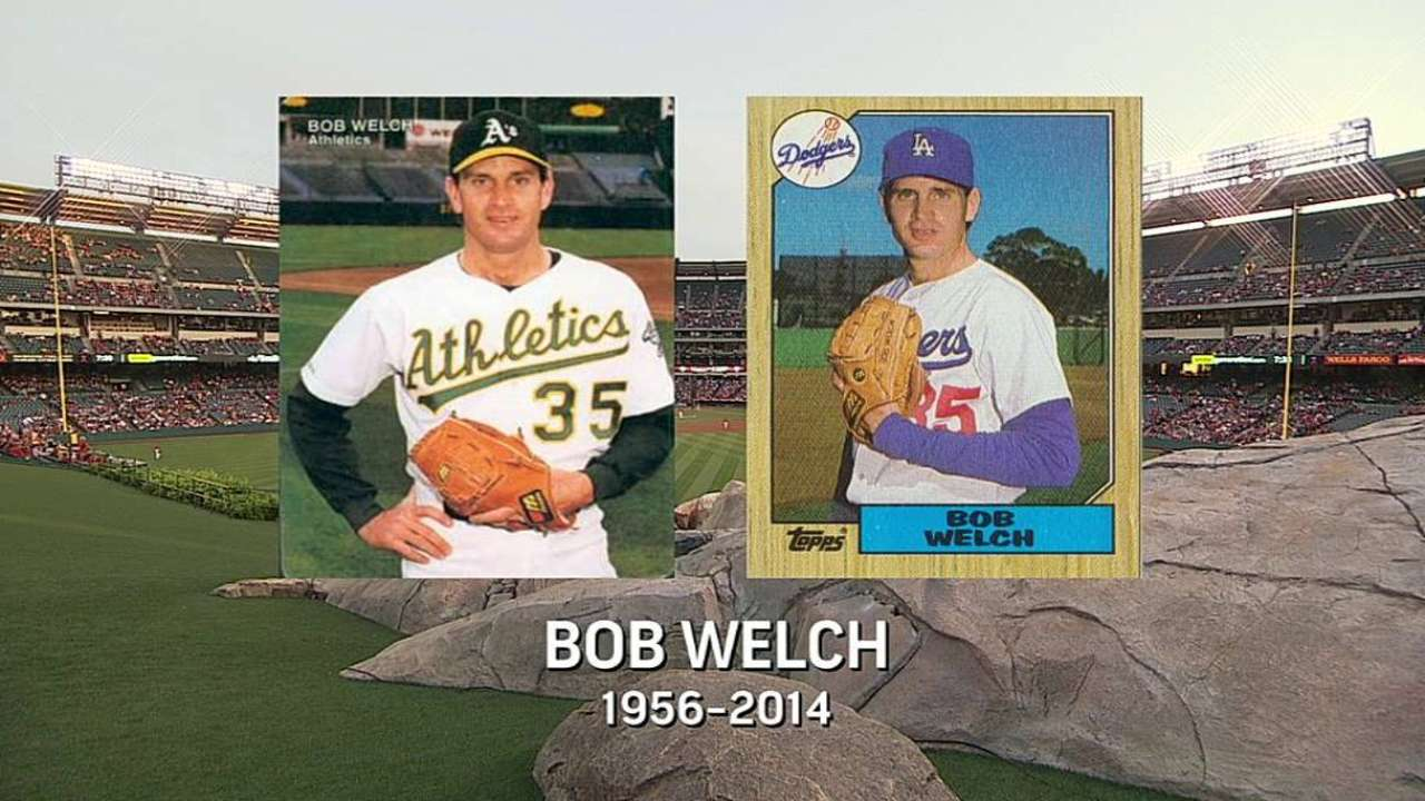 Welch's death takes toll on A's clubhouse