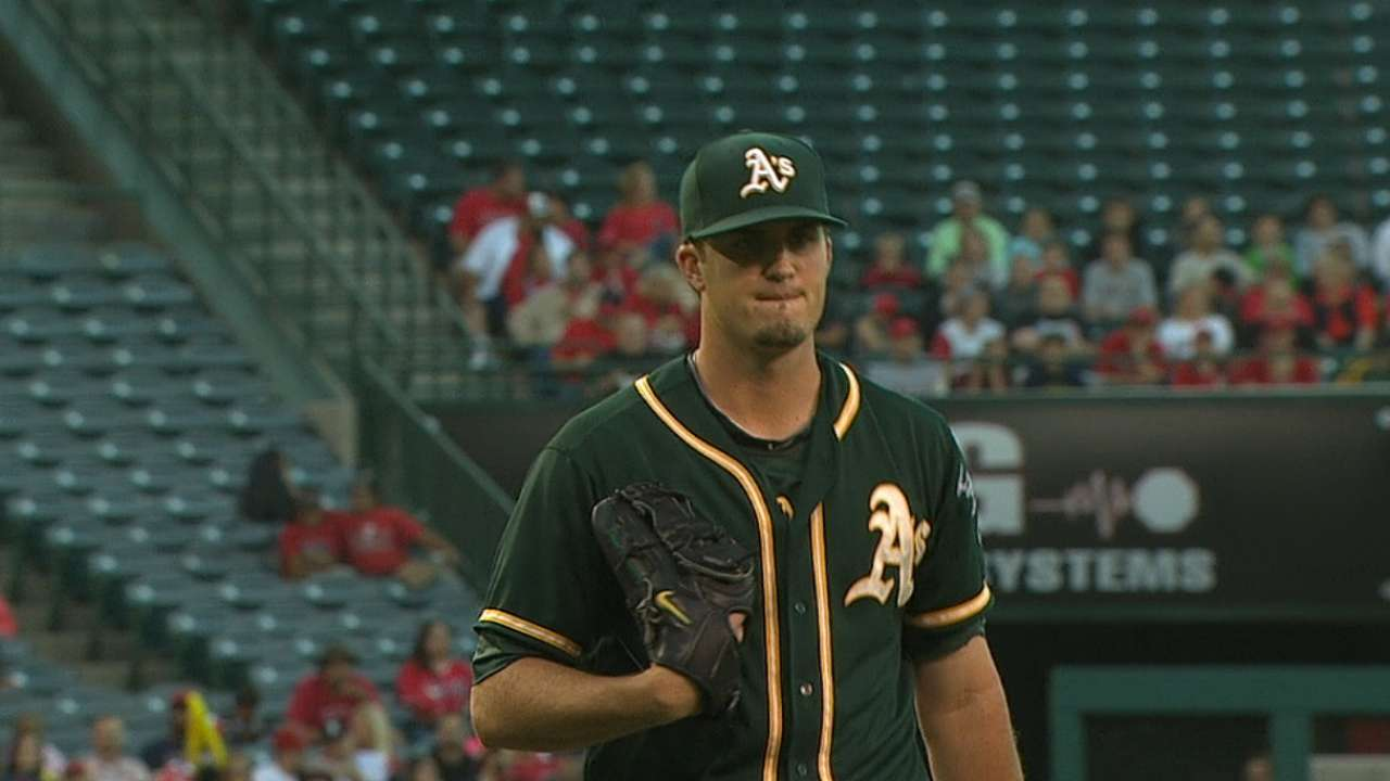Pomeranz start lines up A's big four in Anaheim