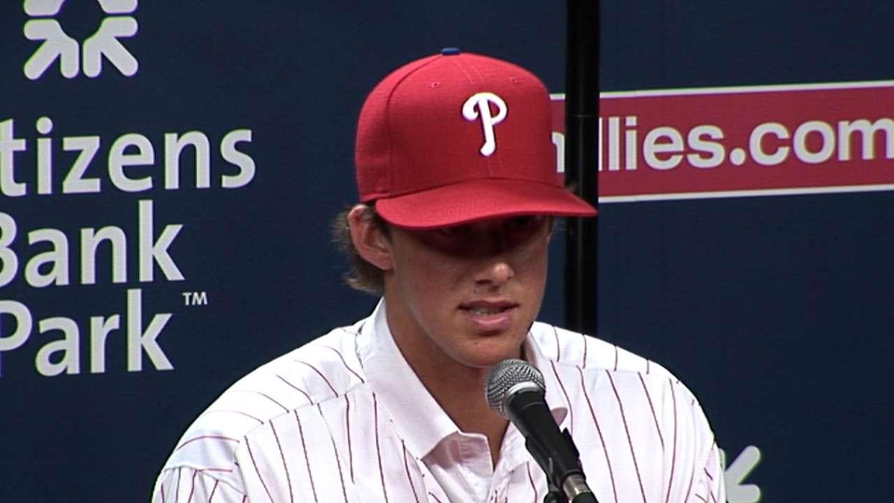 Phillies sign first-round pick Nola