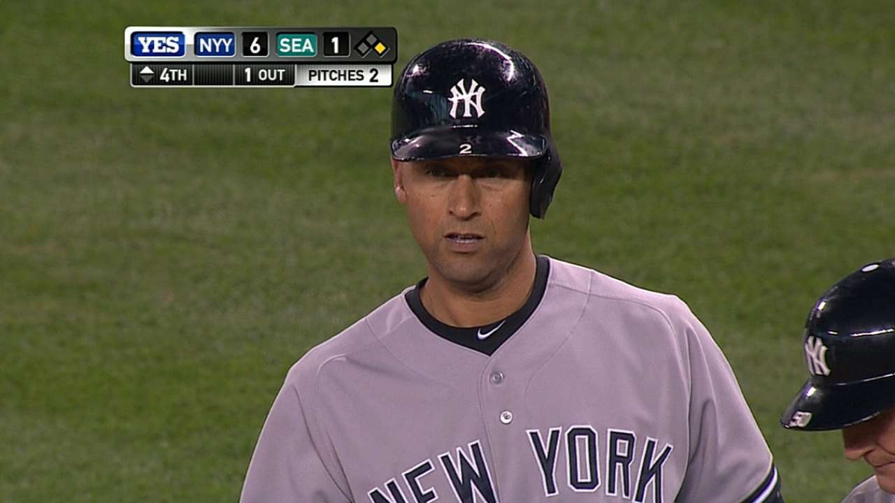 Jeter increases lead to be starting shortstop for AL