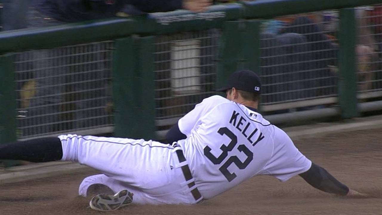Kelly named Tigers' Heart and Hustle Award winner