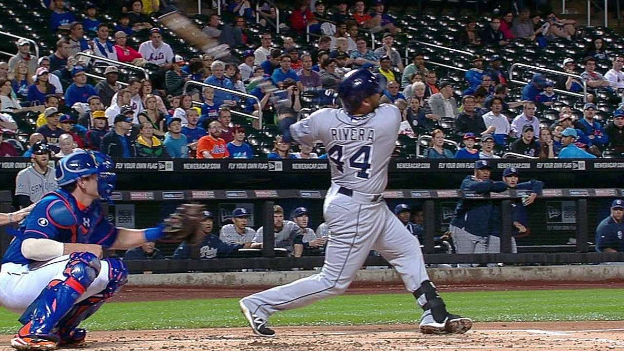 Rivera remolcó 2 pero Padres cayeron con Mets