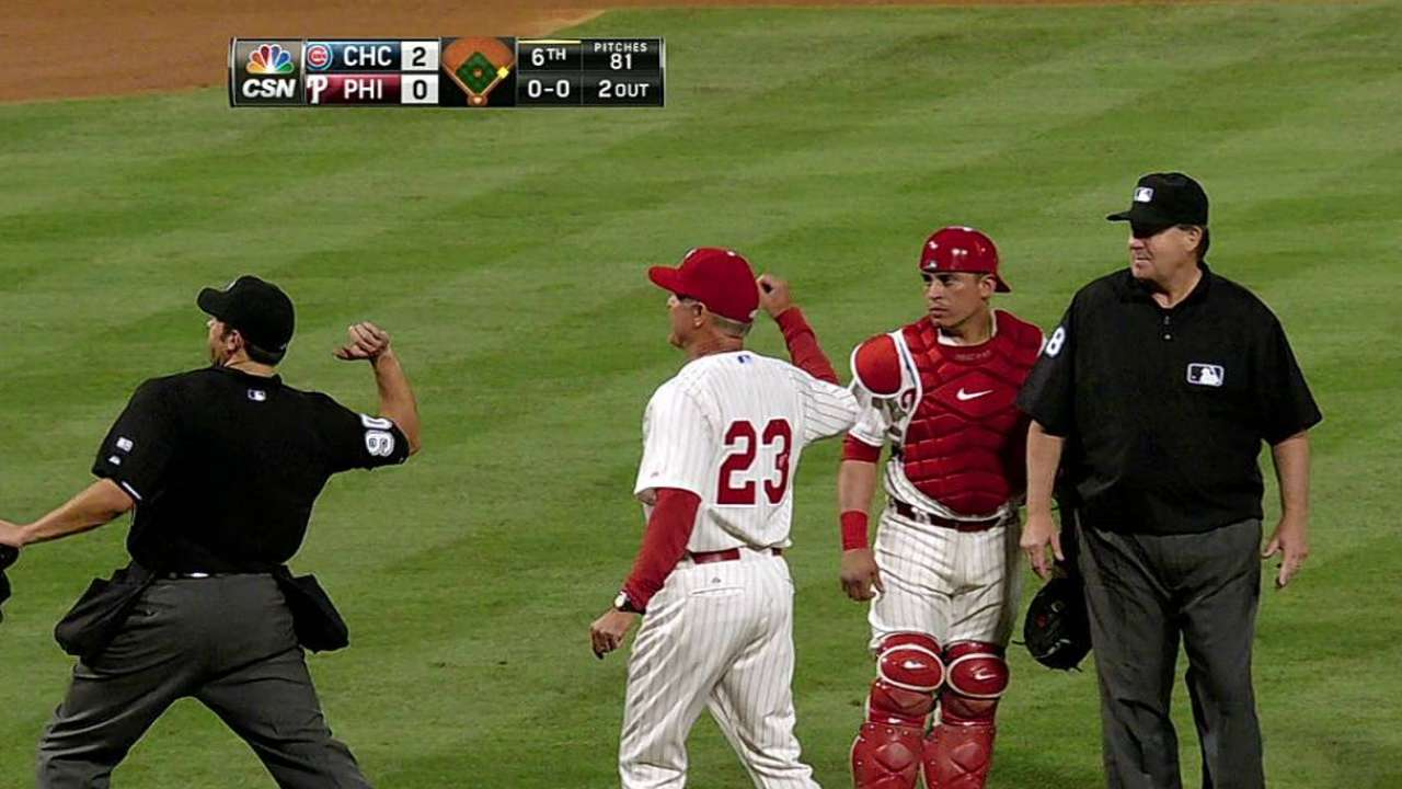 Ryno, Hernandez ejections surprise Phils, Cubs