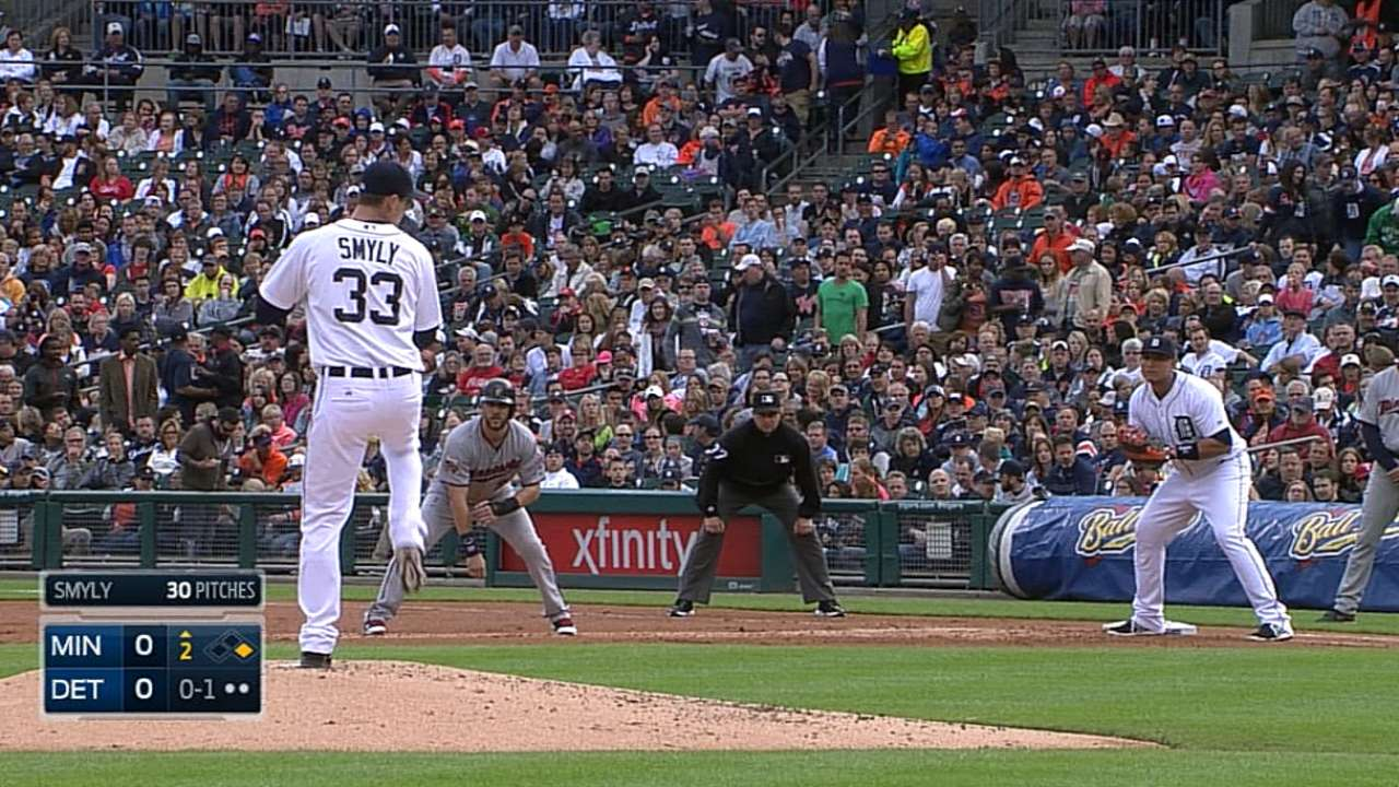 Smyly turns in sharp start, but big hit eludes Tigers