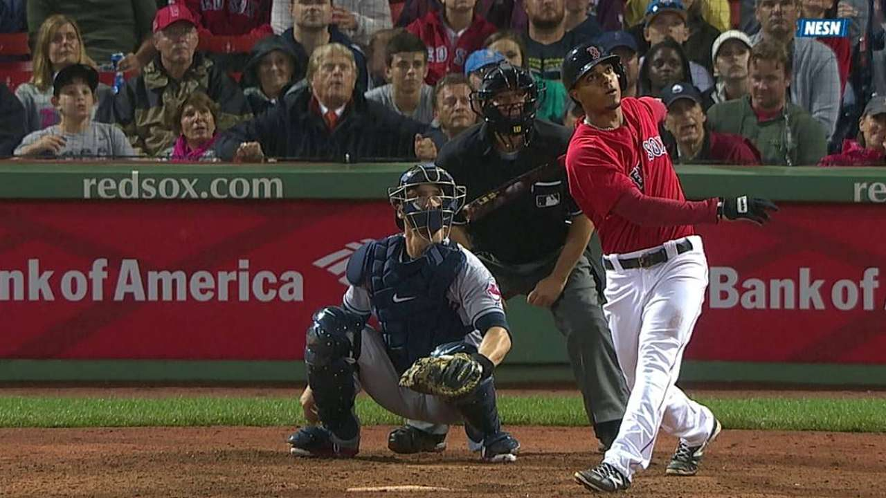 Bogaerts doesn't start due to flu; Holt at third
