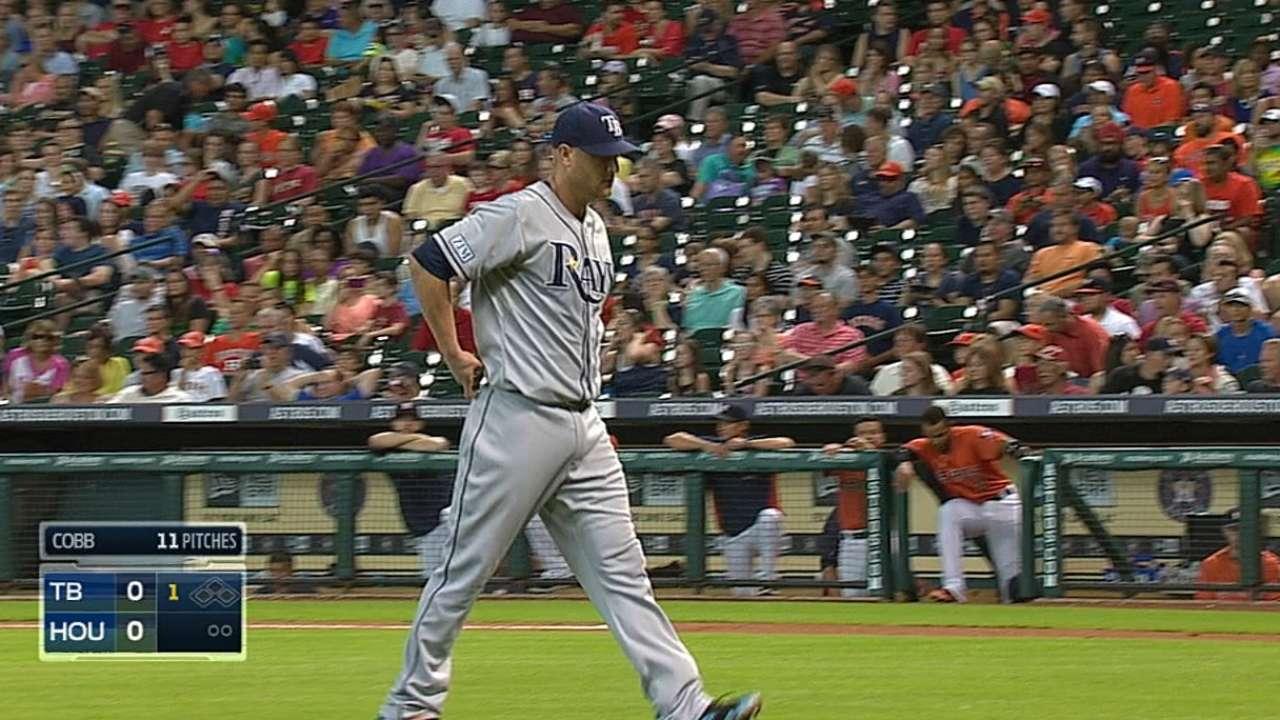 Cobb fans 11, baffles Astros as Rays snap road skid