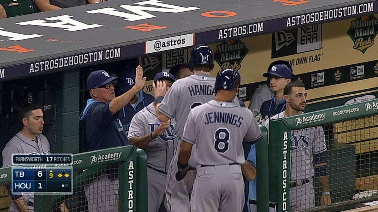 Cobb luce en la loma y Rays se imponen a Astros