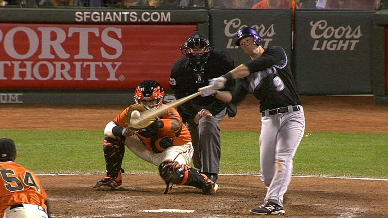 Five-run ninth inning gives Rockies third straight win