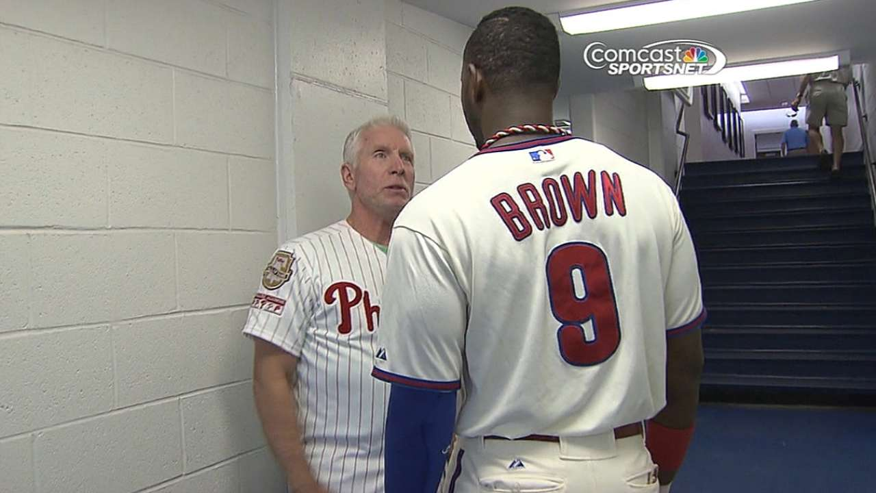 Schmidt set to help Brown, other Phils bats this spring