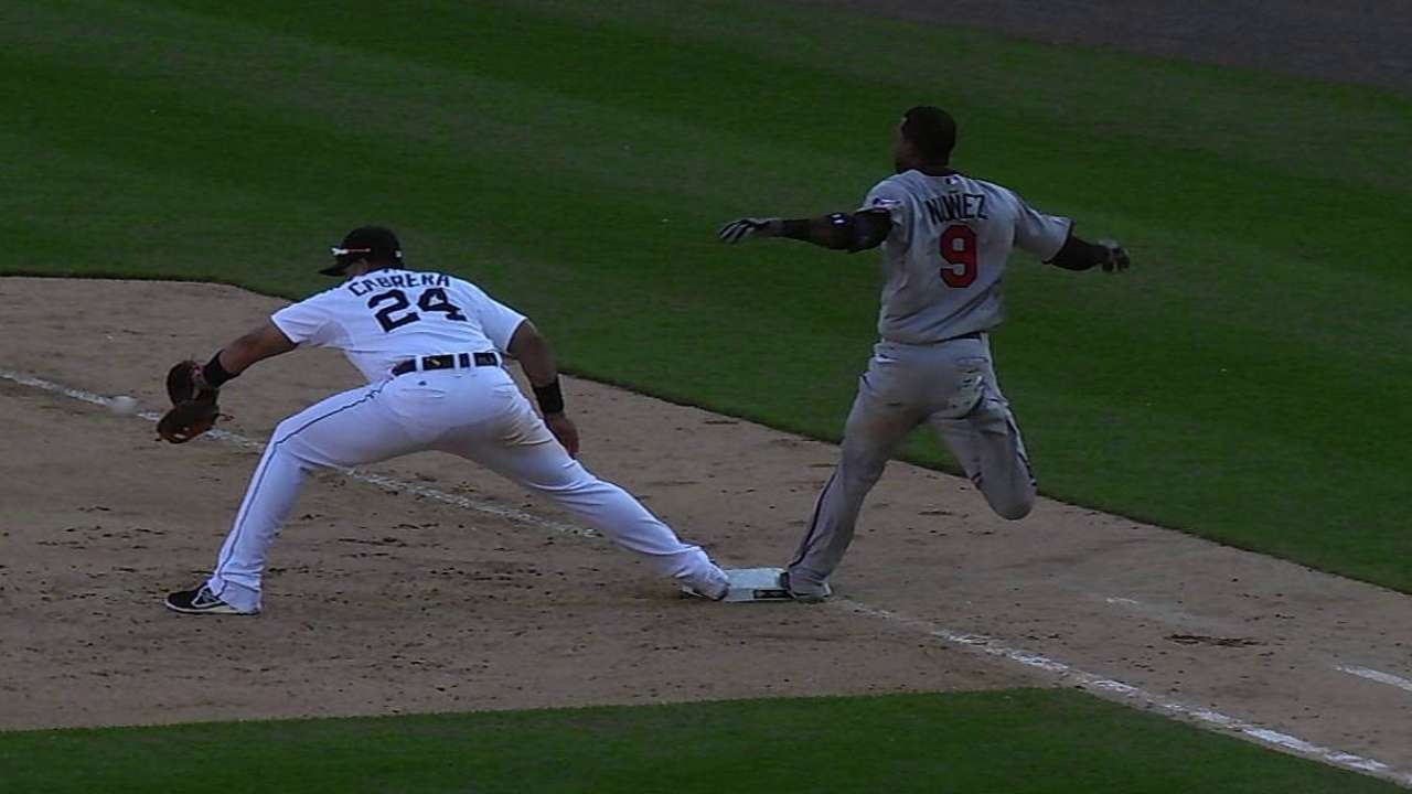 Nunez safe at first after Twins win challenge