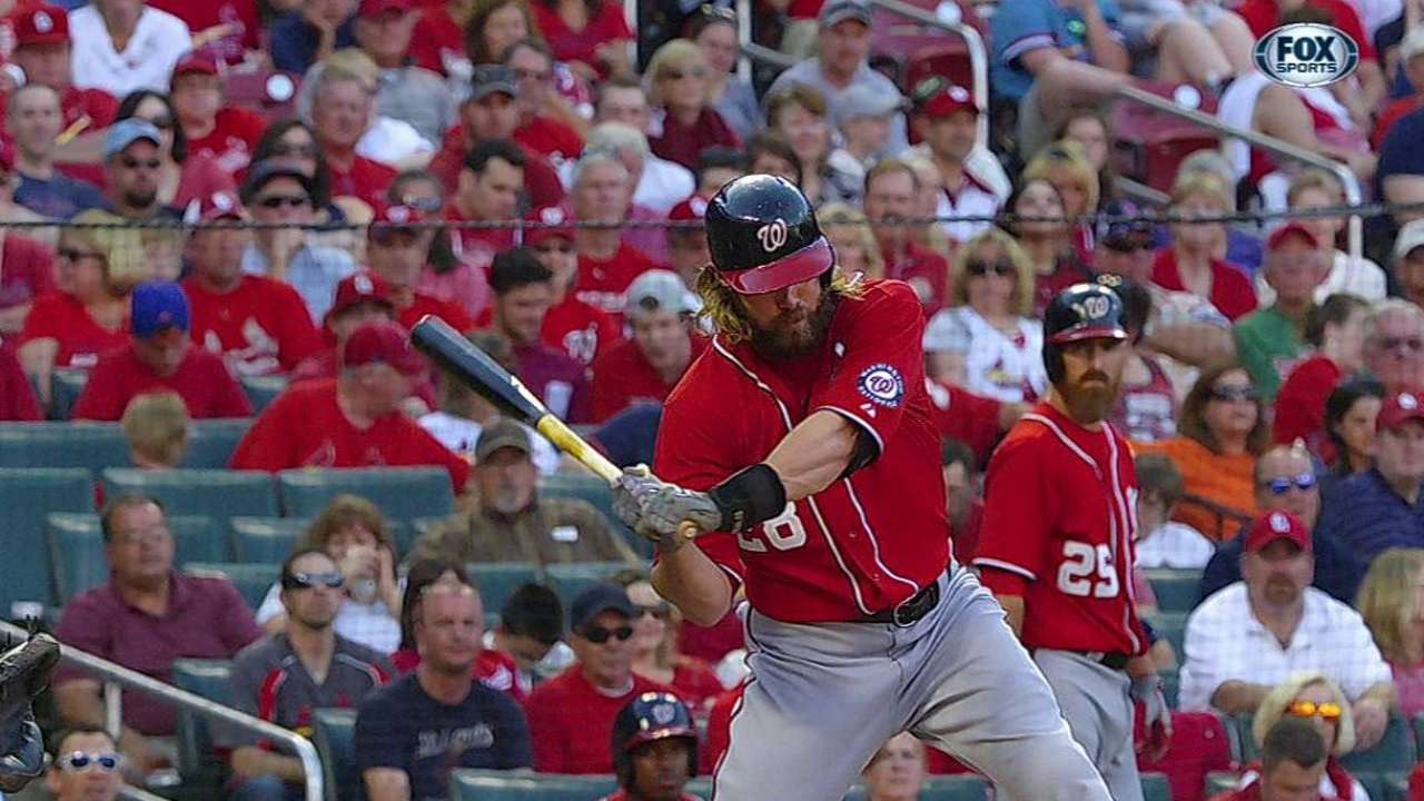Werth making most of 'honor' of batting third