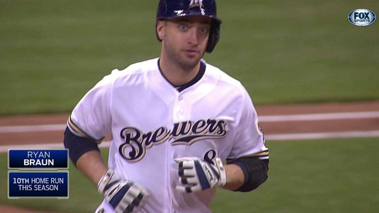 Braun's homer in eighth lifts Crew to victory