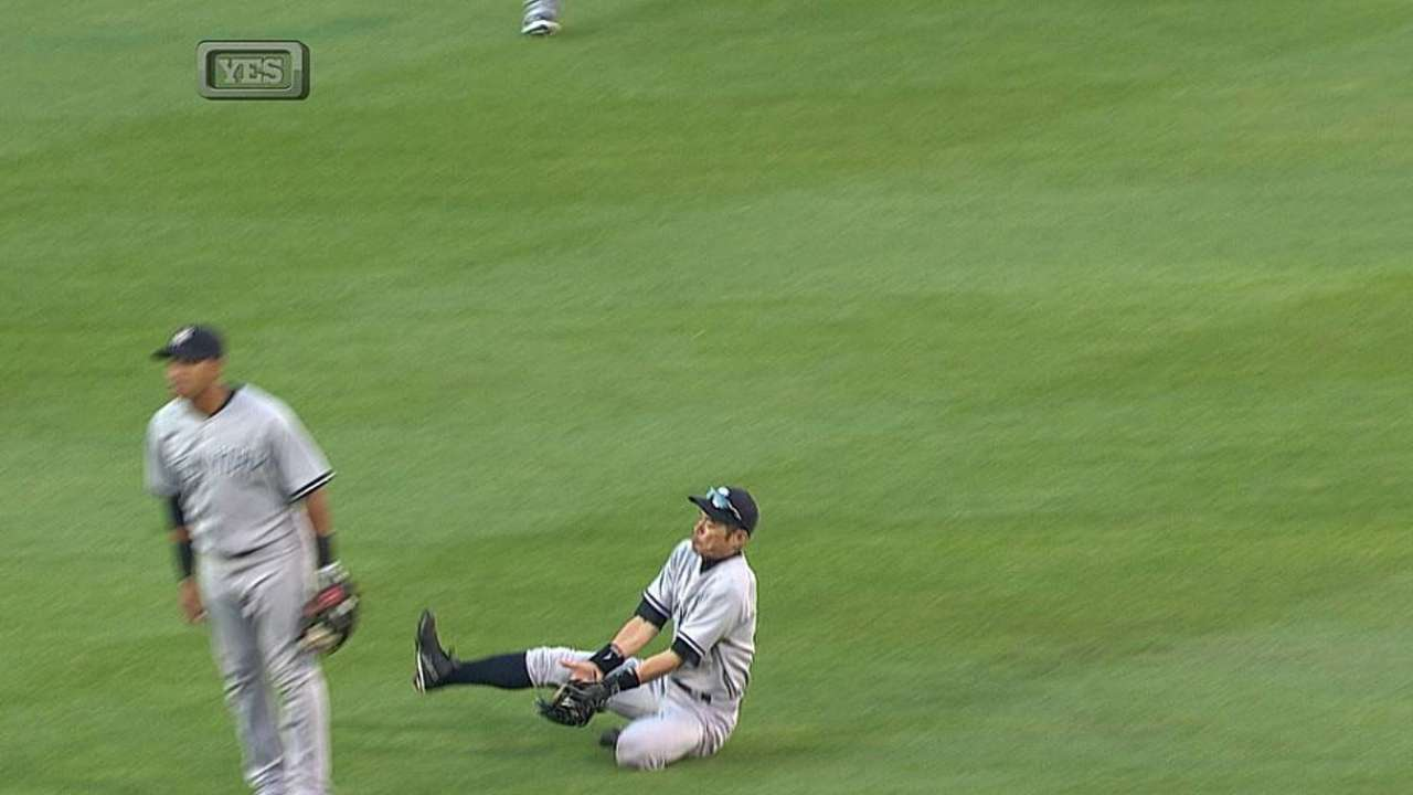 Kuroda can't find groove as Yanks' win streak snapped