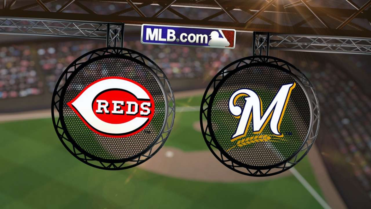 Reds look to shake off tough loss to Brewers