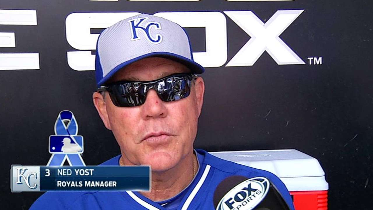 Fathers spend time with sons on Royals' road trip