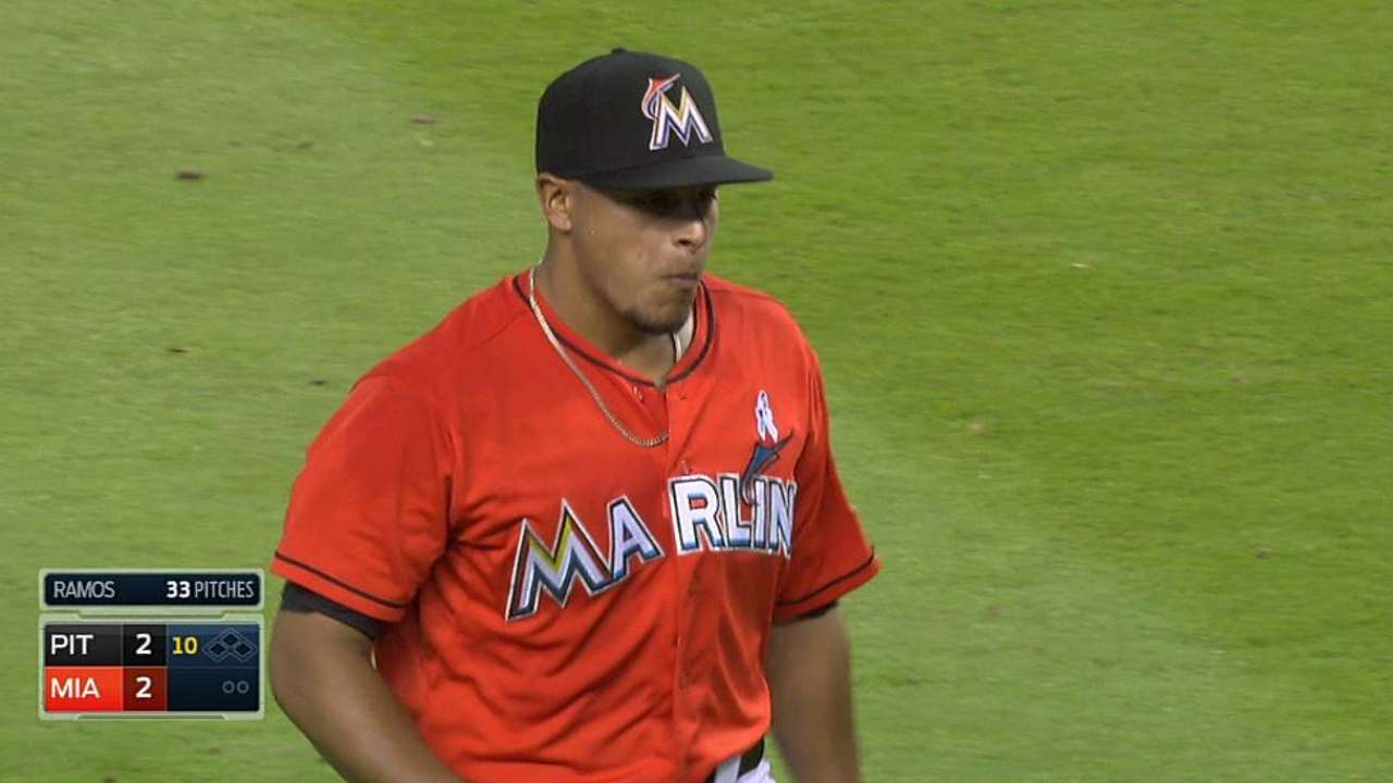 No rest for Marlins relievers since Fernandez's injury