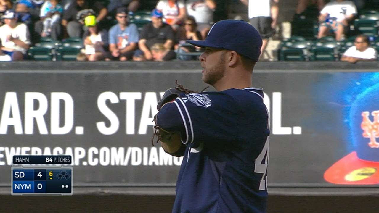 Hahn does it all in first Major League victory