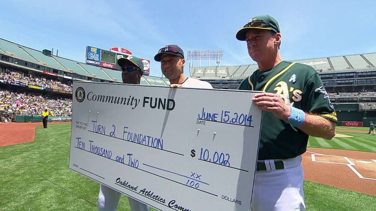 Athletics recognize Jeter as cut above rest