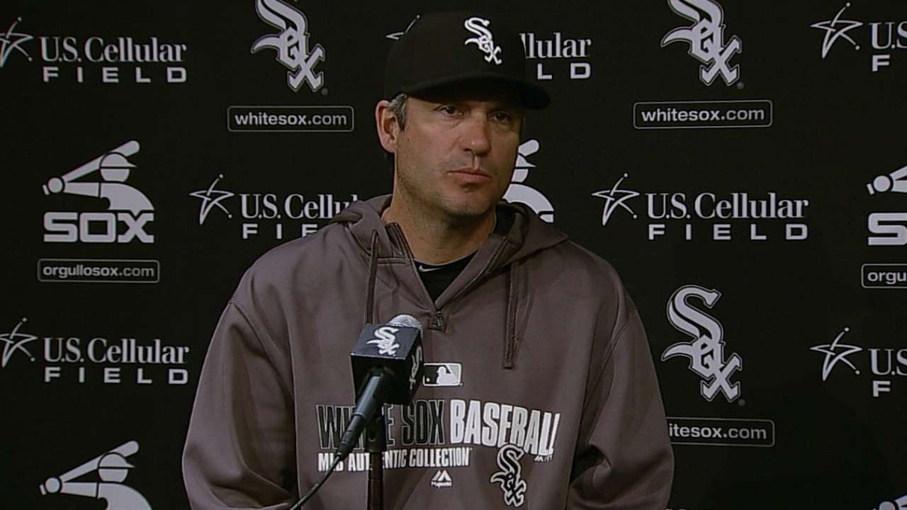 Walks a concern to White Sox pitching coach