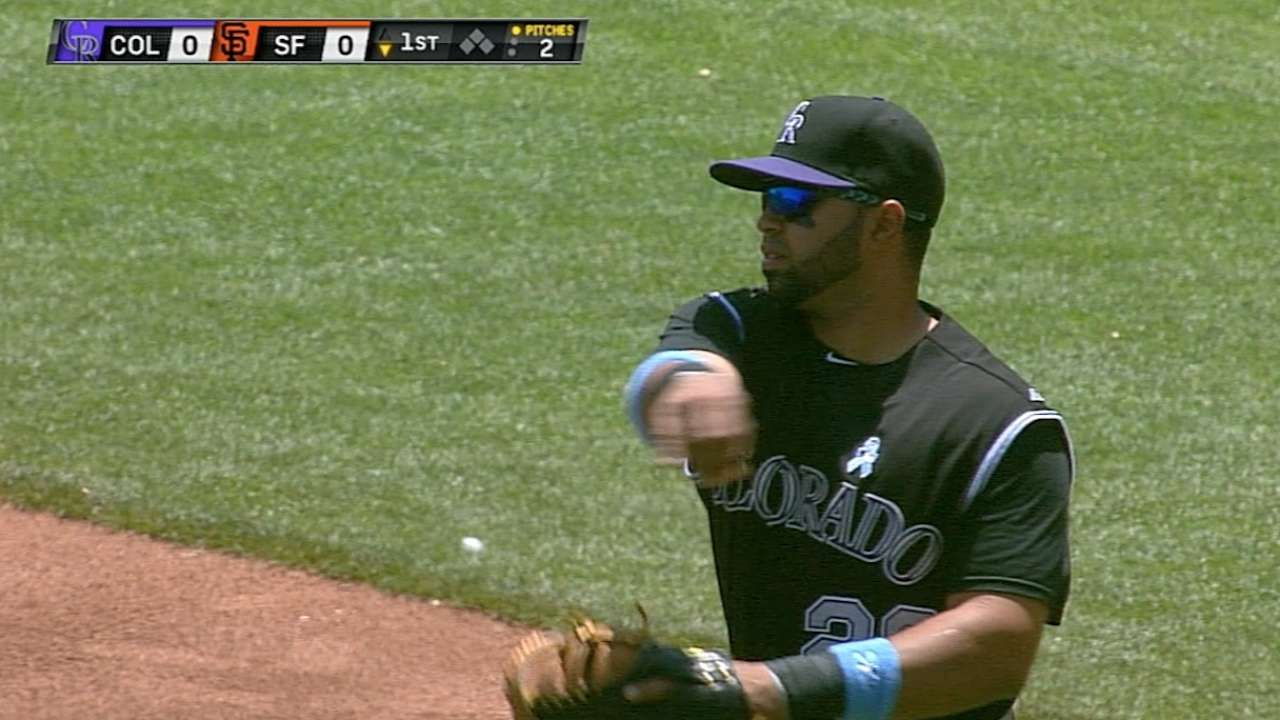 Rosario gets start at first base for Rockies