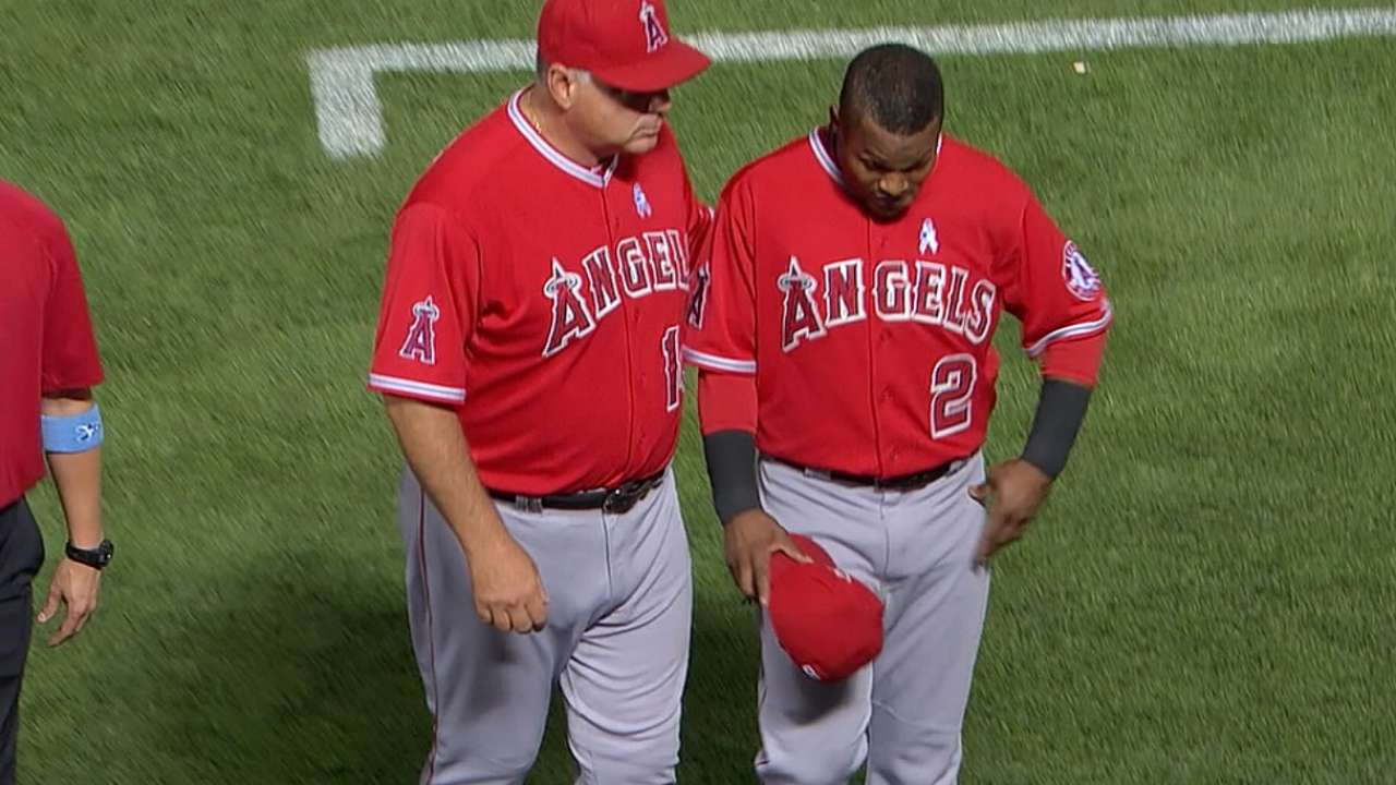 Aybar held out of lineup, but sore hip has healed