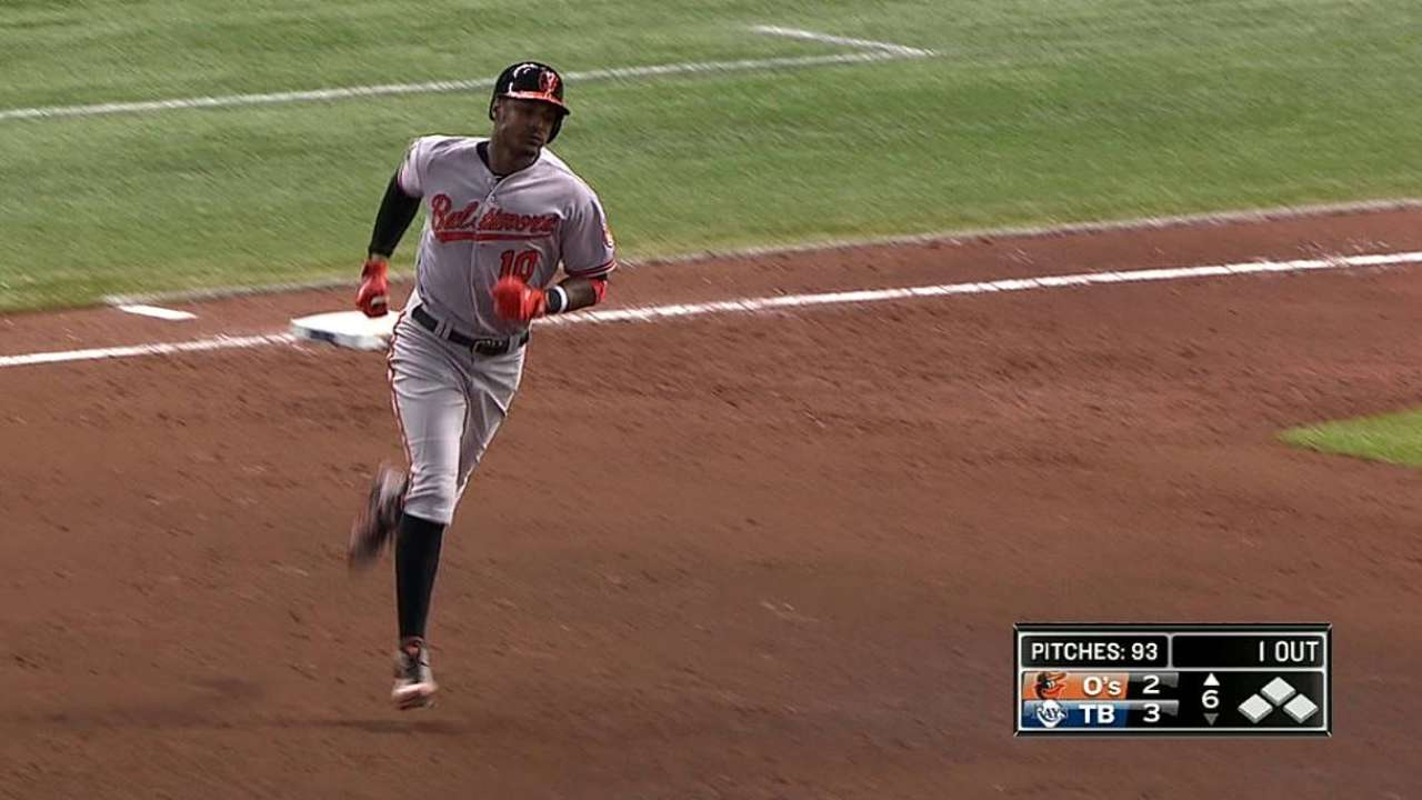 Orioles drop first of season to Rays on late HR