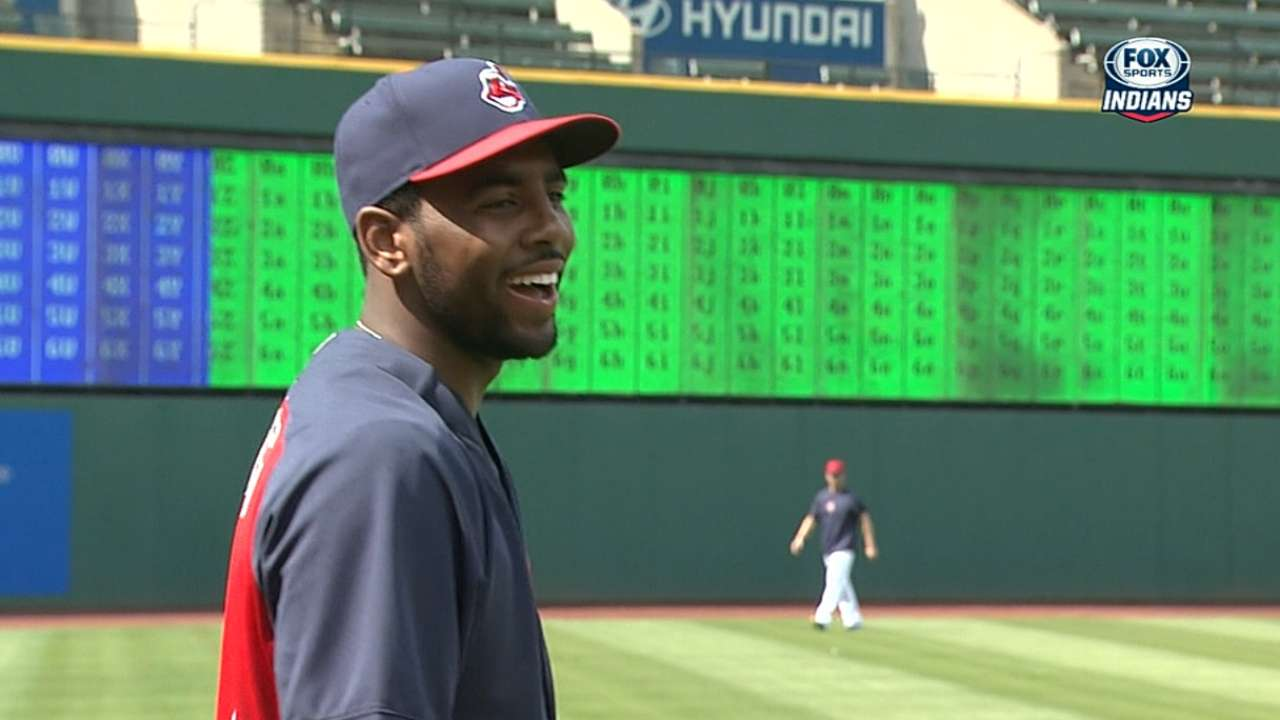 Indians welcome Cavs' Irving for BP, first pitch