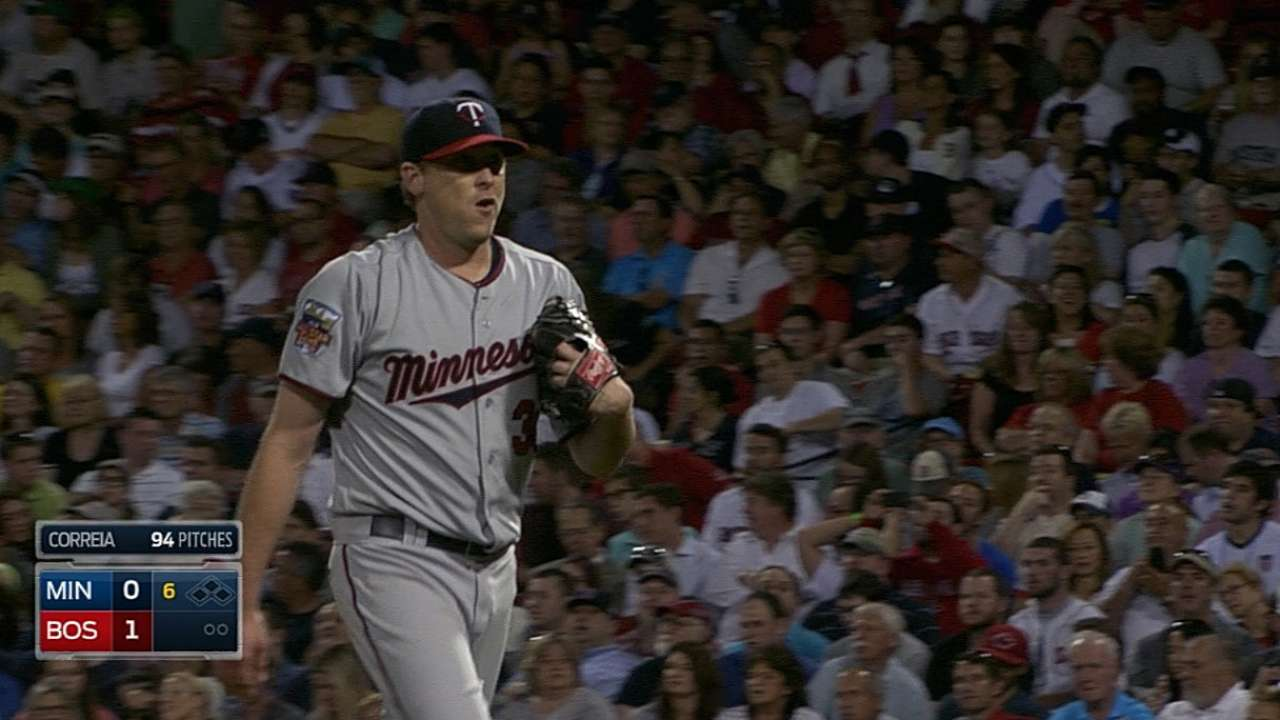 Correia sharp, but Twins blanked by Red Sox