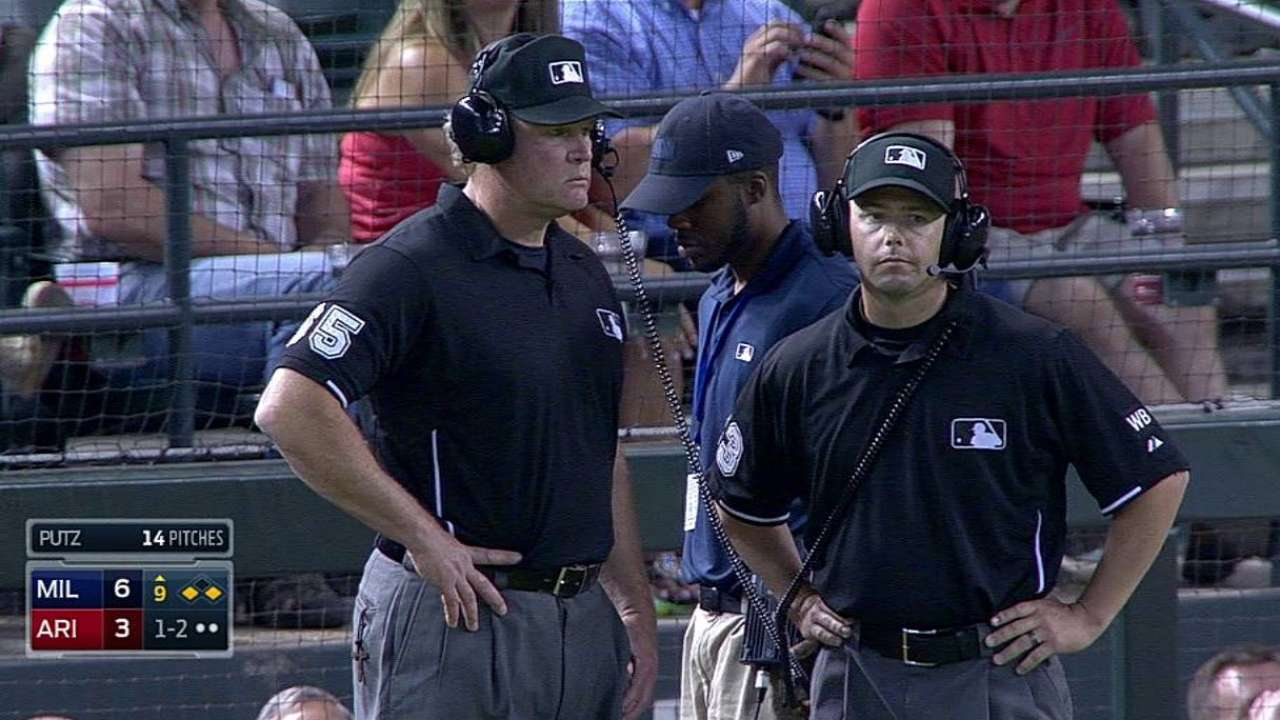 Gibson ejected after umpires' review