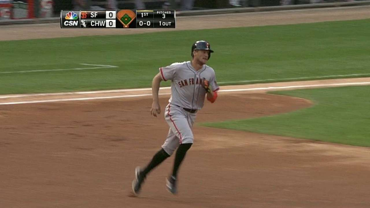 Giants' slide continues as Cain hit hard by White Sox
