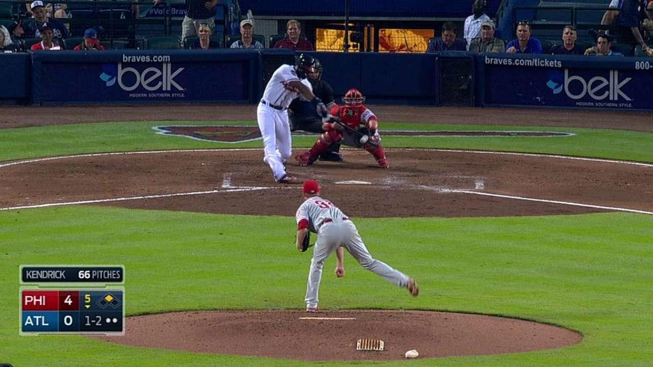 Santana, Braves continue tough stretch with loss