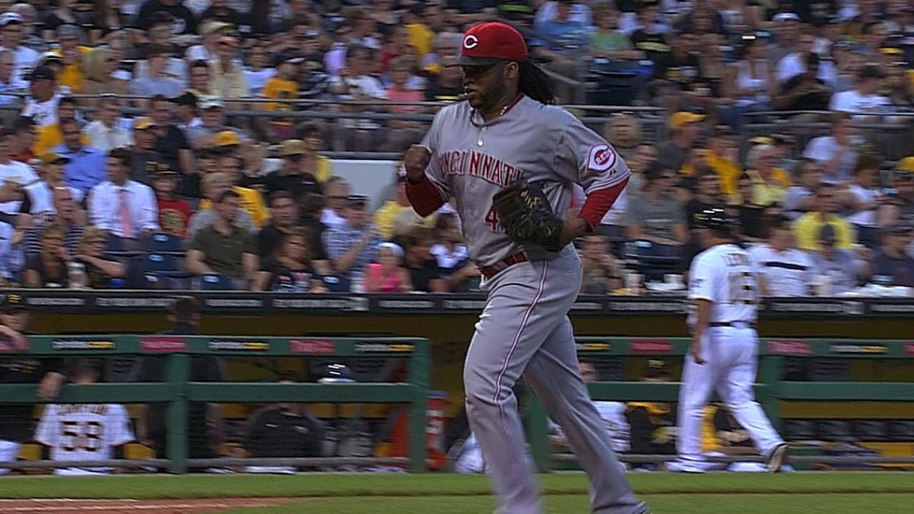 Cueto's laboring start not registering as concern