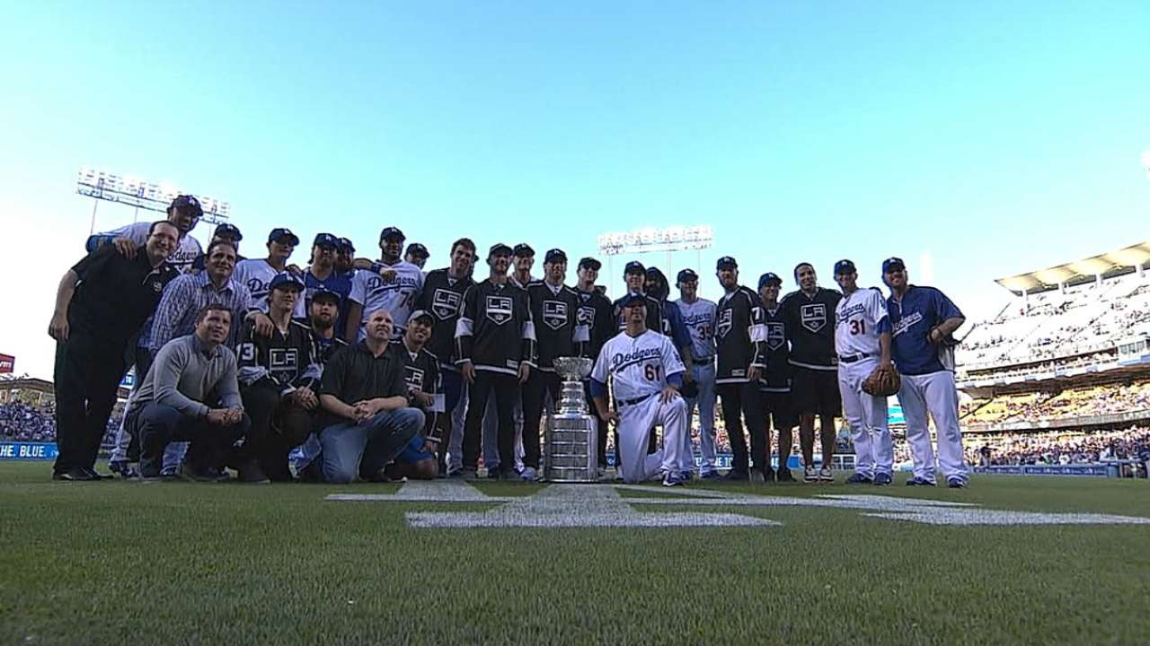 Kings hoist Stanley Cup at Dodger Stadium