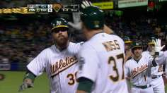 A's pounce to continue hold over Darvish