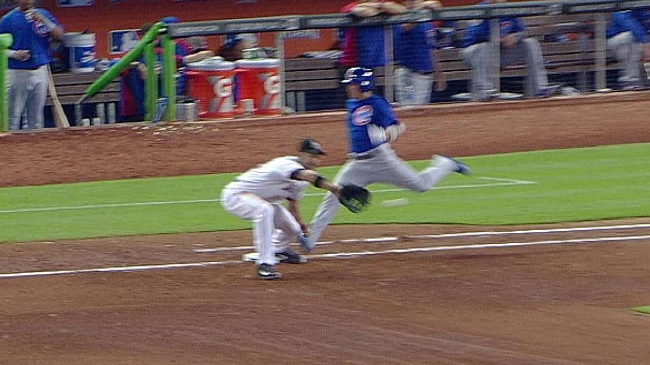 Cubs win challenge to avoid double play