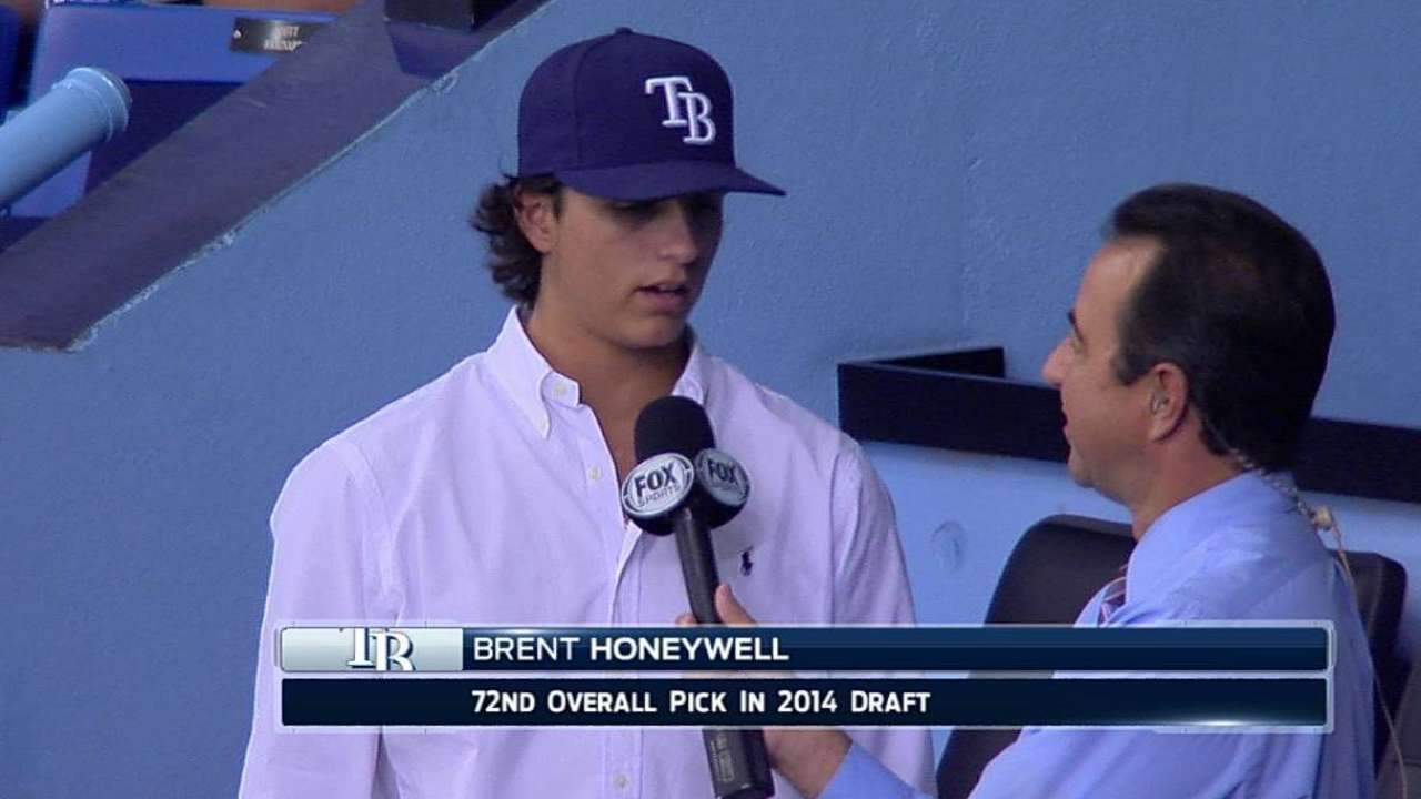 Rays sign 72nd overall Draft pick Honeywell